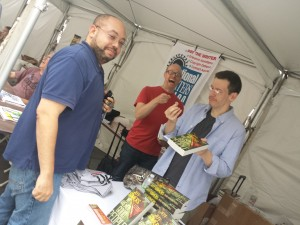 Ken offers me a quarter for my book while Sean laughs uproariously, delighted at my humiliation.
