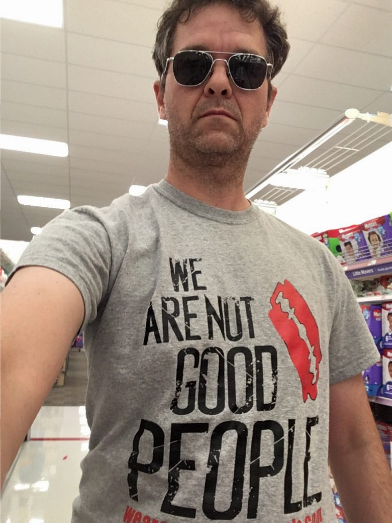 WANGP Super Fan is either at Target buying groceries or about to do some murderin'
